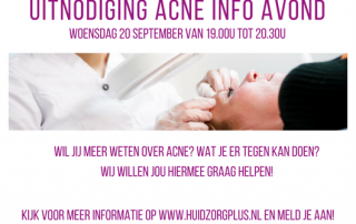 Uitnodiging acne infoavond 2017