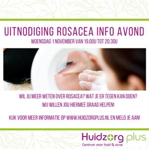 Uitnodiging rosacea info avond 2017